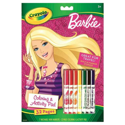 Crayola Barbie Coloring & Activity Book with Markers 1 pack (Pack of 3)