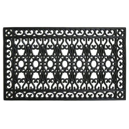 Welcome Gate (Calloway Mills Garrisons Gate Rubber Outdoor Doormat 24