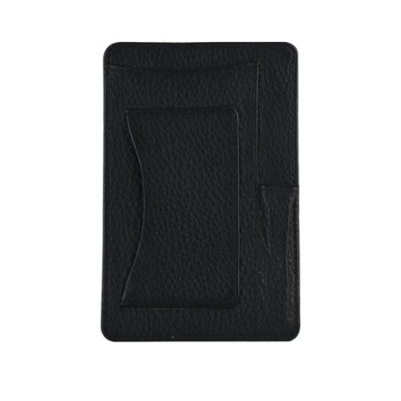 Genuine Leather 4� x 6� Notepad Holder with Pen Holder and Card Slot, Black Desktop Notepad Holder