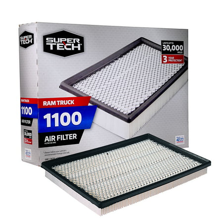 SuperTech 1100 Engine Air Filter, Replacement Filter for Chrysler or Ram Truck