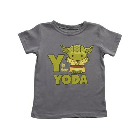 Y Is For Yoda Star Wars Toddler T-Shirt Romper Baby Infant Grey Yoda - Infant Yoda