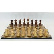 Lardy Sheesham/Natural Boxwood Chessmen on Marrakech Decoupage Chess board