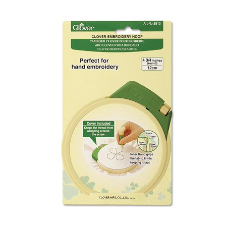 Clover Plastic Embroidery Stitching Hoop 4-3/4