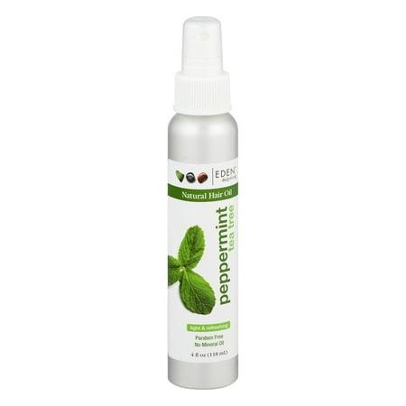 - Eden BodyWorks Natural Hair Oil, Peppermint Tea Tree, 4.0 FL OZ