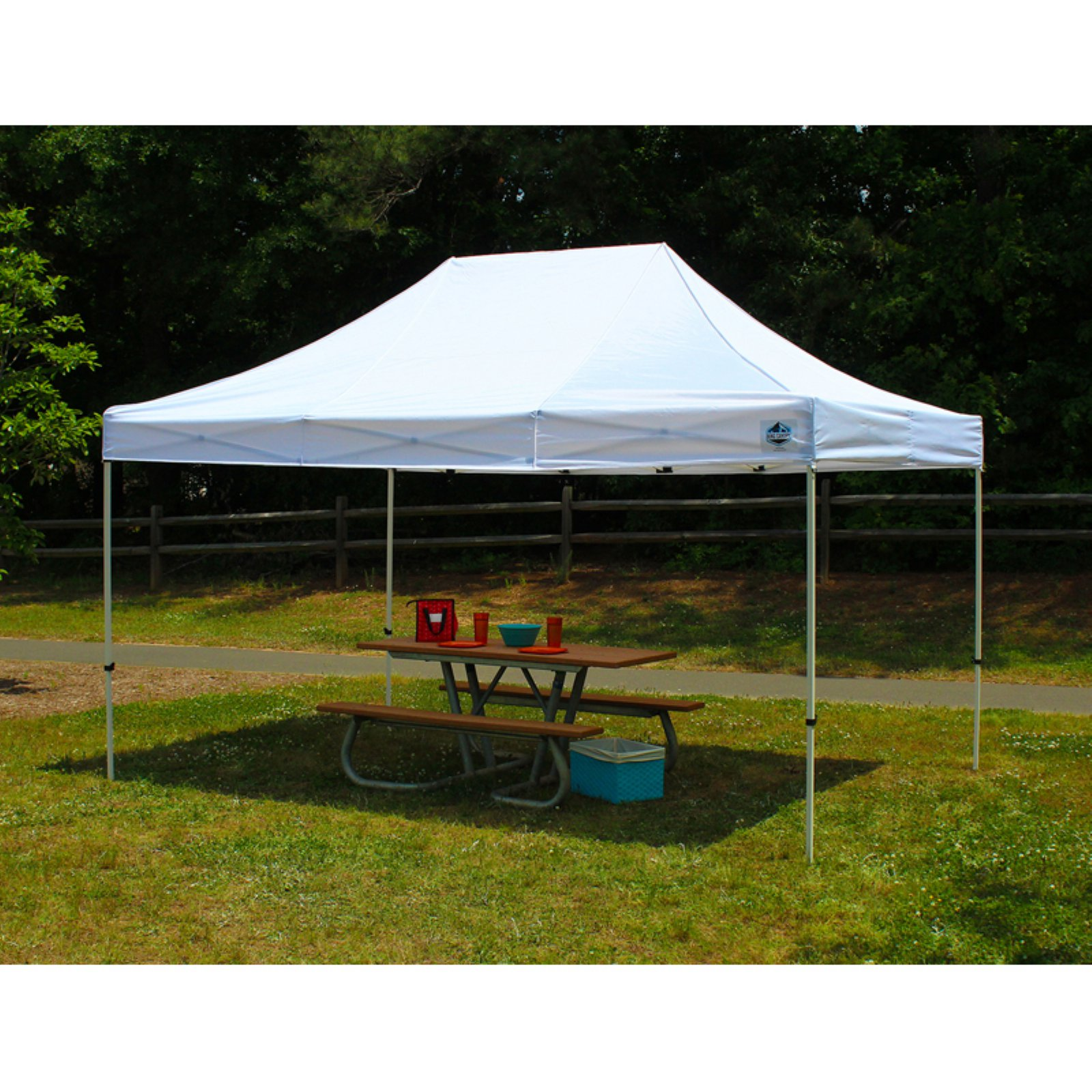 FESTIVAL 10X15 Pop Up Tent w/ WHITE Cover
