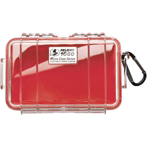 Pelican 1050-028-100 1050 Micro Case (red/clear)