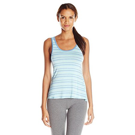 Splendid Women's Mesh Trim Tank, Tropical Multi Stripe/Blue, Medium Metallic Trim Tank