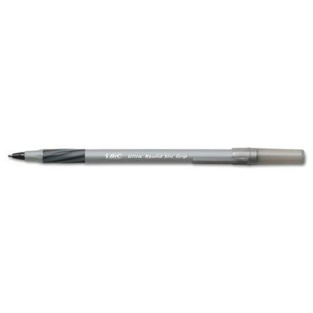 Bic Corporation GSMG361AST Ultra Round Stic Grip Ballpoint Stick Pen, 1.2 mm, Black/Blue, 36/Pk