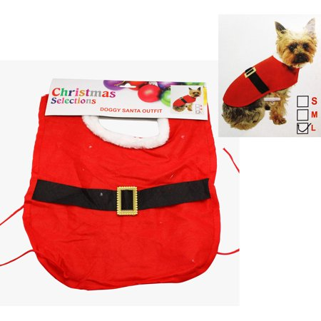 Christmas Selections Doggy Santa Outfit (Small Dogs) (Doggy Christmas)