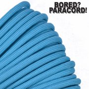 Bored Paracord Brand 550 lb Type III Paracord - Turquoise 1000 Feet