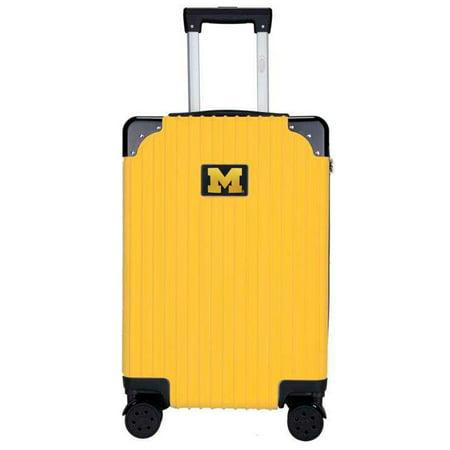 Michigan Wolverines Premium 21'' Carry-On Hardcase Luggage - Yellow