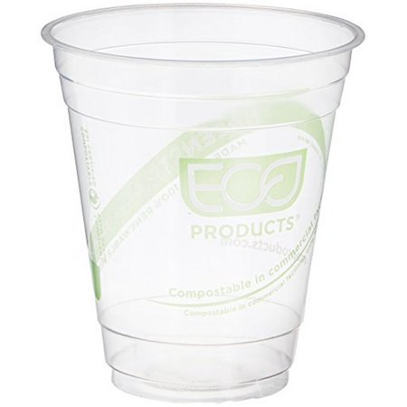 Compostable Plastic Cups - Eco-Products ECOEPCC12GSPK GreenStripe Cold Cups, Compostable Plastic PLA (Pack of 50)