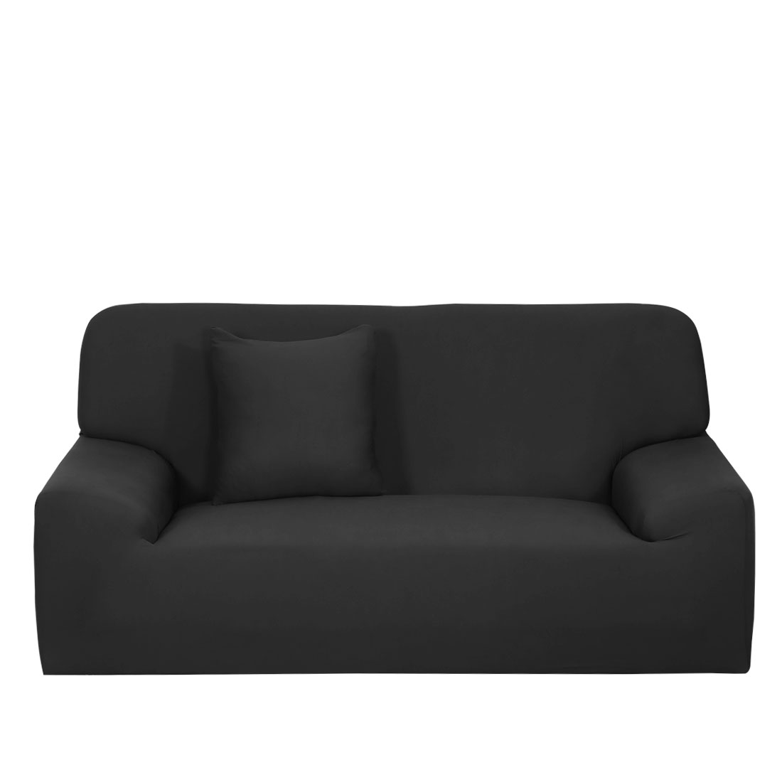 Charmant Stretch Sofa Cover Chair Loveseat Couch Slipcovers Protector Black