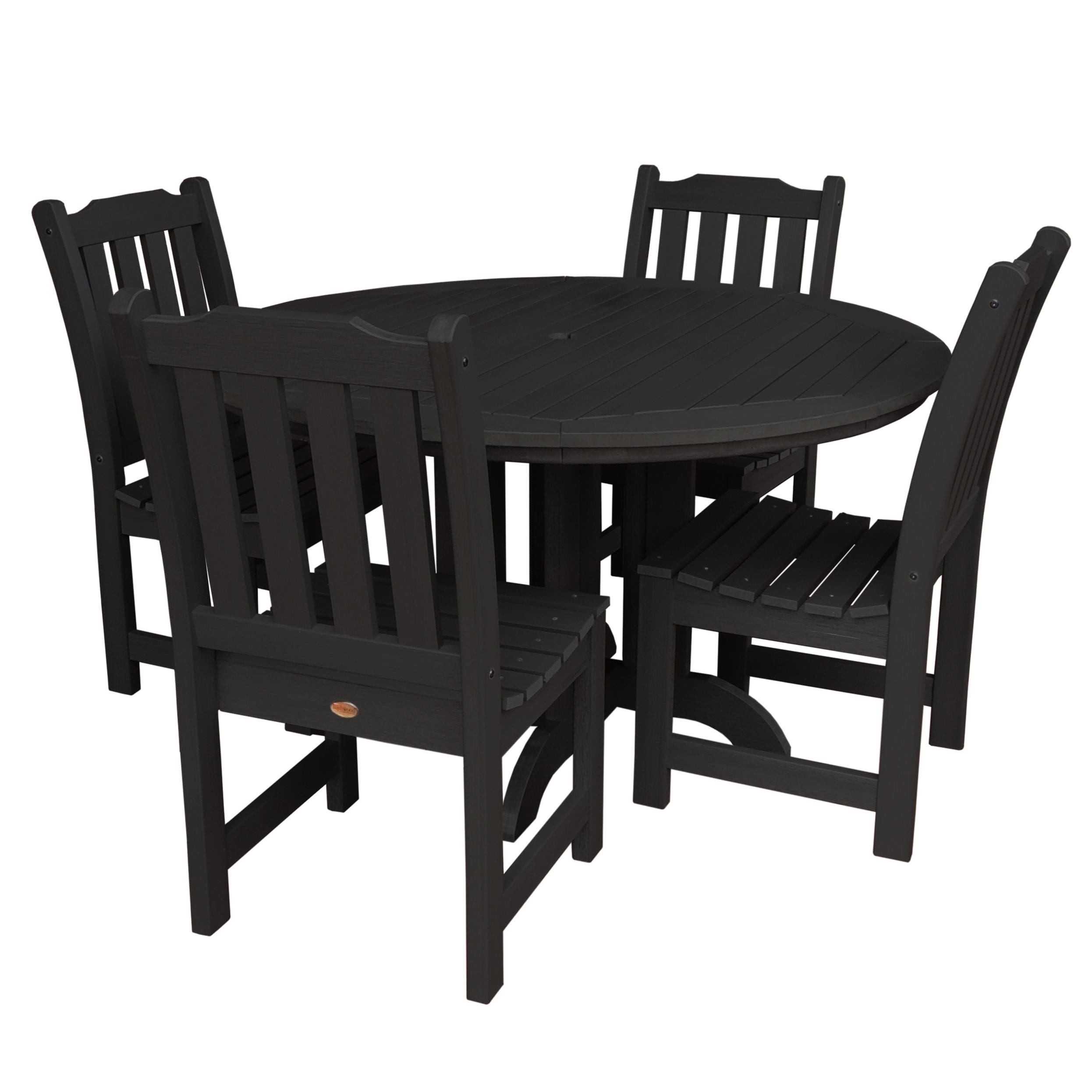 highwood® Eco-Friendly Recycled Plastic Lehigh 5pc Round Dining Set