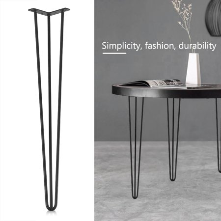 TOPINCN 4Pcs set 28inch/30inch Hairpin Metal Furniture Table Legs Solid Iron Laptop Desk ()