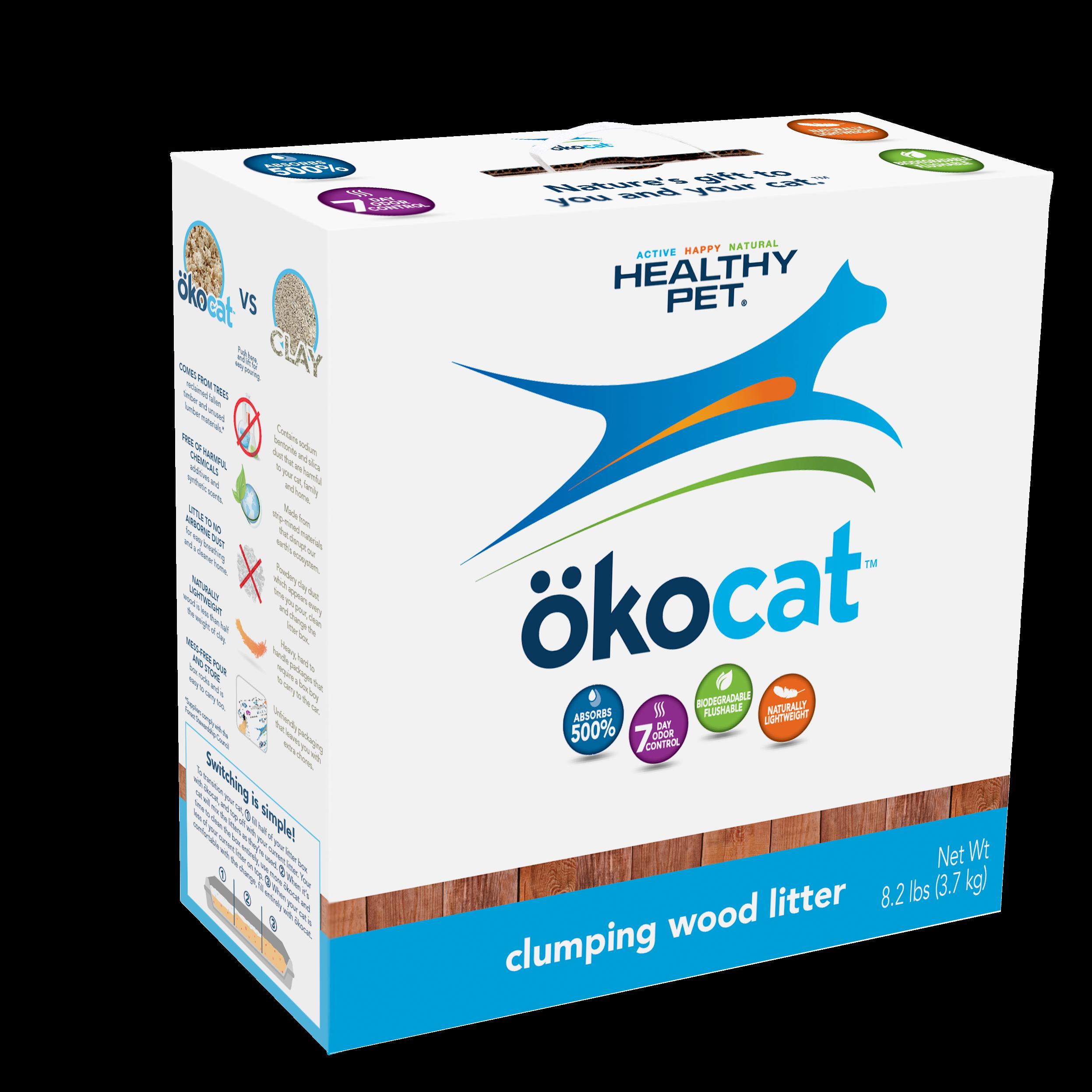 Okocat Clumping Wood Cat Litter, 7.5-lb