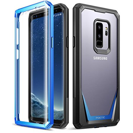 Guardian Cast (Poetic Guardian [Scratch Resistant Back] [360 Degree Protection]Full-Body Rugged Clear Hybrid Bumper Case with Built-in-Screen Protector for Samsung Galaxy S9 Plus)