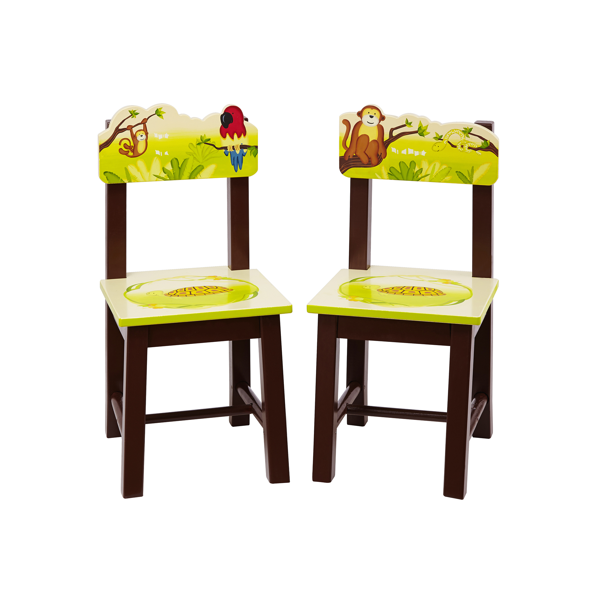 Guidecraft Jungle Party Extra Kids Chairs, Set of 2
