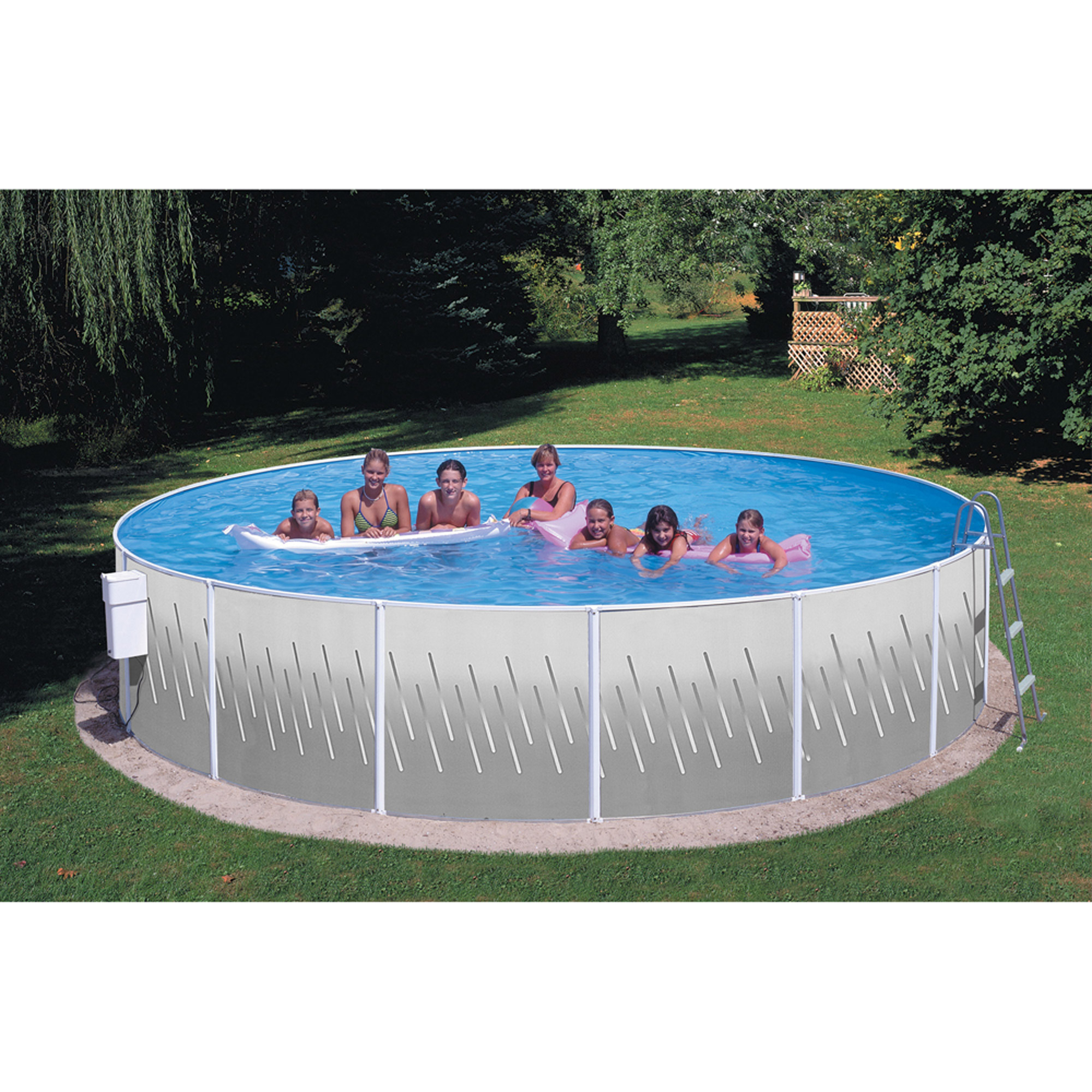 "Heritage 12' x 42"" Sea View Club Steel Wall Above Ground Swimming Pool"