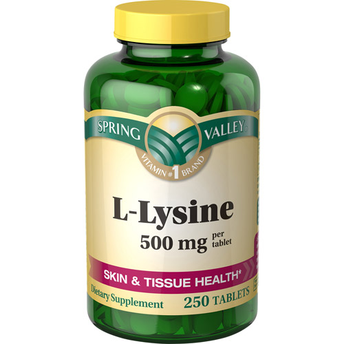 Spring Valley L-Lysine 500 mg, 250 count
