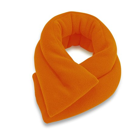 Sunny Bay Extra Long Neck Heating Wrap Microwavable Heat Pad Heated Rice Filled Orange