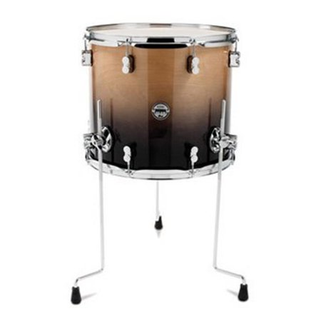 18 Inch Floor Tom - pacific drums pdcb1618ttnc 16 x 18 inches floor tom with chrome hardware - natural to charcoal fade