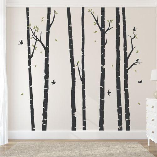 Wallums Wall Decor Birch Tree Forest Wall Decal