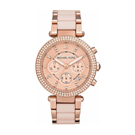 Michael Kors Women's Parker Rose Gold-Tone Stainless Steel Bracelet Watch (Rose Gold Michael Kor Watch)