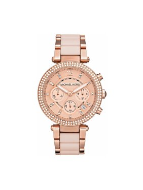 6f56bc374d9c5 Product Image Women s Parker Rose Gold-Tone Stainless Steel Bracelet Watch. Michael  Kors