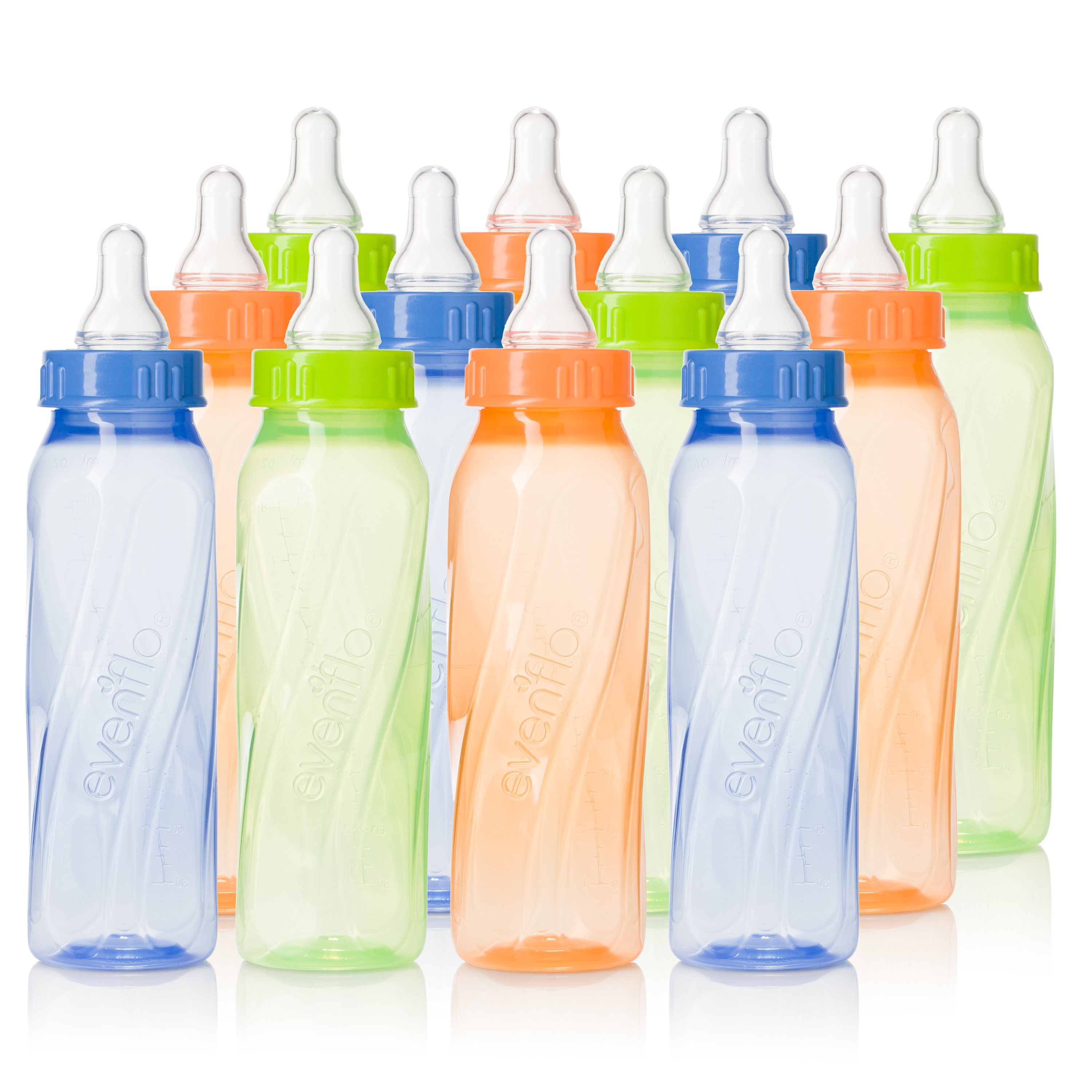Evenflo Classic Twist BPA-Free Baby Bottle - 8oz, Tinted, 12-Pack