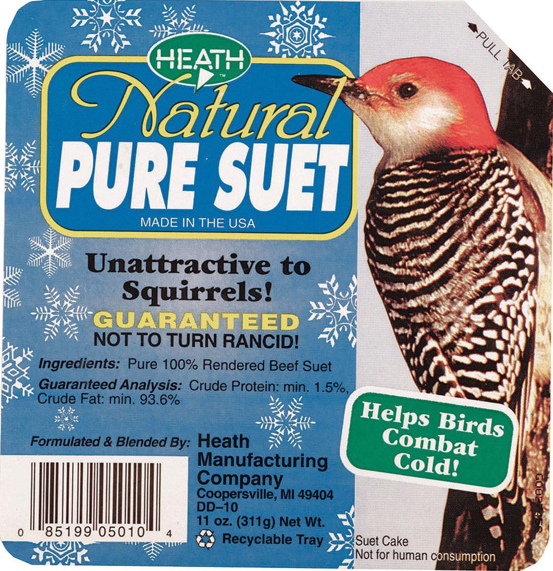 Heath Mfg Co P-Natural Pure Suet Cake 11 Ounce