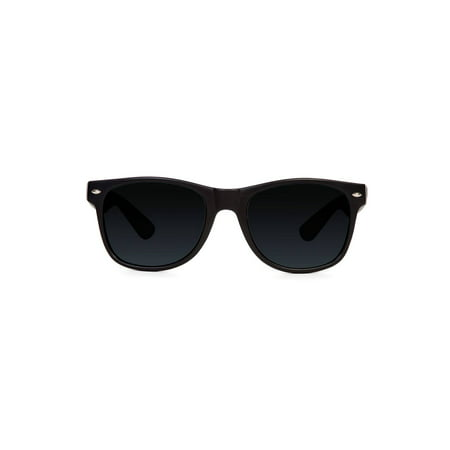 Black Classic Vagabond Style Sunglasses (Includes Soft (Womens Sunglasses Case)