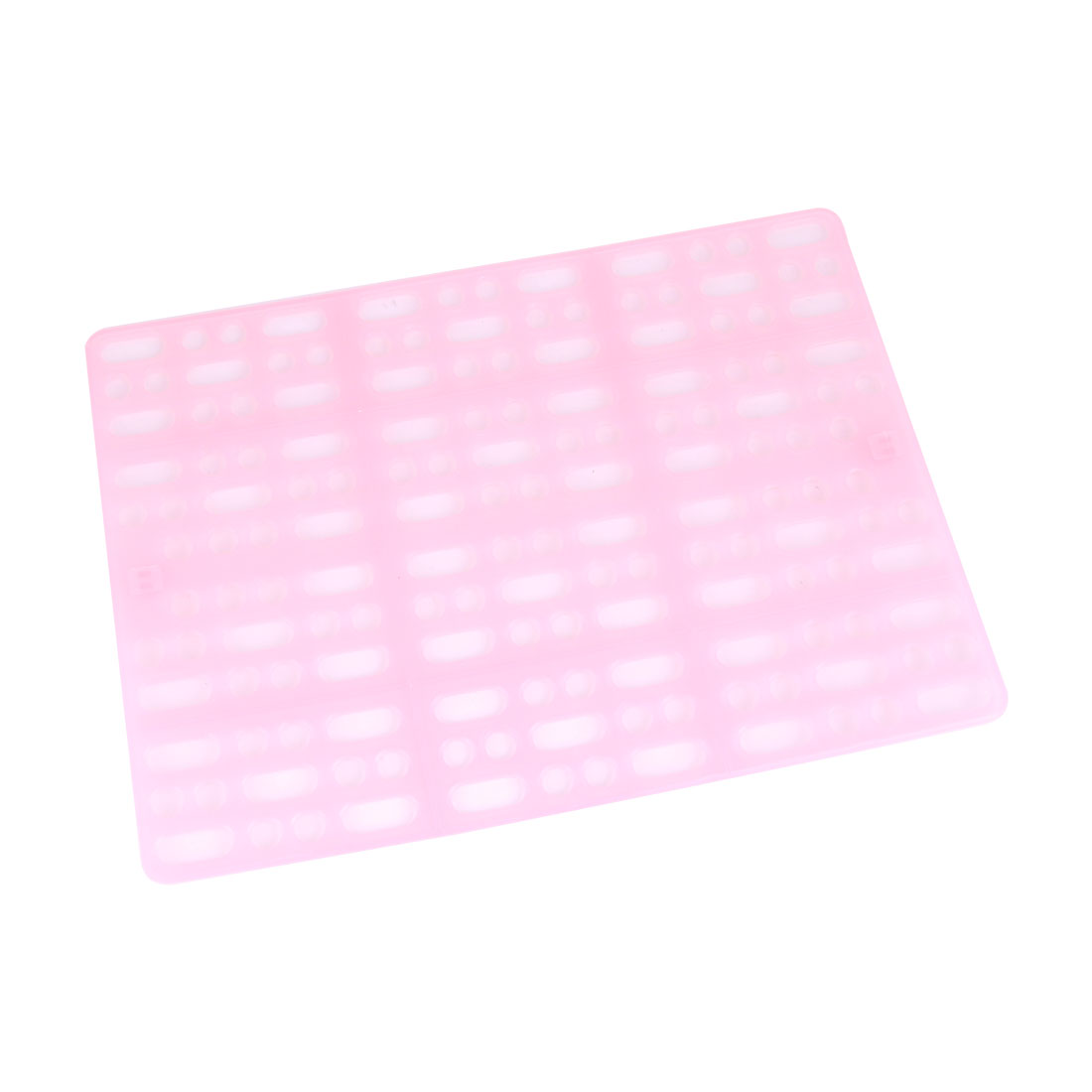 Hole Design Hamster Rabbit Pet Cage Plastic Feet Protecting Mat Pad Holder Pink by