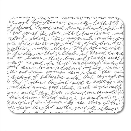 JSDART Pink Book White Write with Handwriting Text Calligraphy Free Hand Style Black Letter Script Mousepad Mouse Pad Mouse Mat 9x10 inch - image 1 of 1