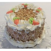 """Fake Carrot Cake 6"""" with Nuts & Carrots Realistic Prop Decoartion Dezicakes"""