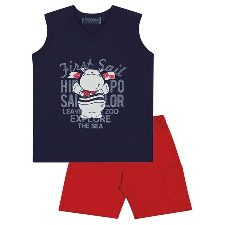 592811510b5c Baby Boy Outfit Graphic Tank Top V-Neck and Shorts Set Pulla Bulla 3 ...