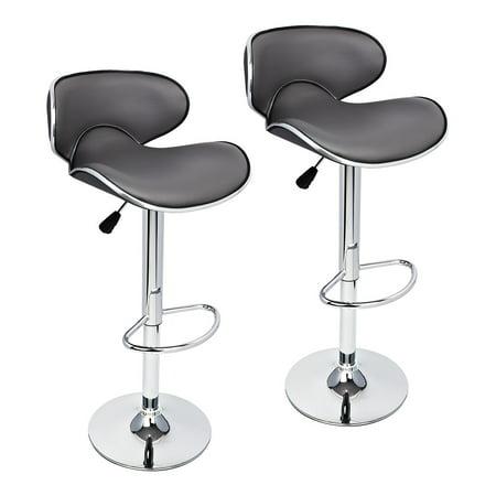 Prime 2 Pcs Gray Modern Bar Stool Adjustable Height Swivel Counter Chair Barstools Theyellowbook Wood Chair Design Ideas Theyellowbookinfo