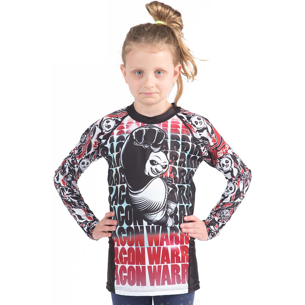 Fusion Fight Gear Kid's KFP Dragon Warrior Long Sleeve Rashguard - White