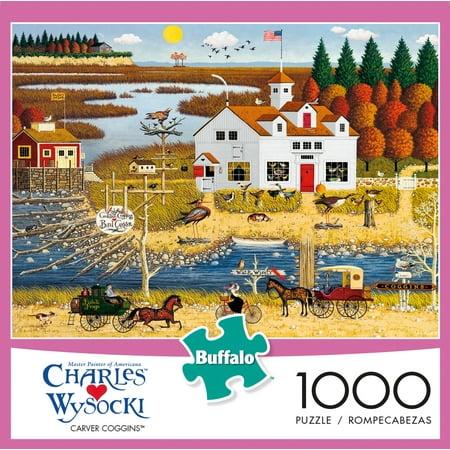Buffalo Games - Charles Wysocki - Carver Coggins - 1000 Piece Jigsaw Puzzle - Wysocki Halloween Puzzles