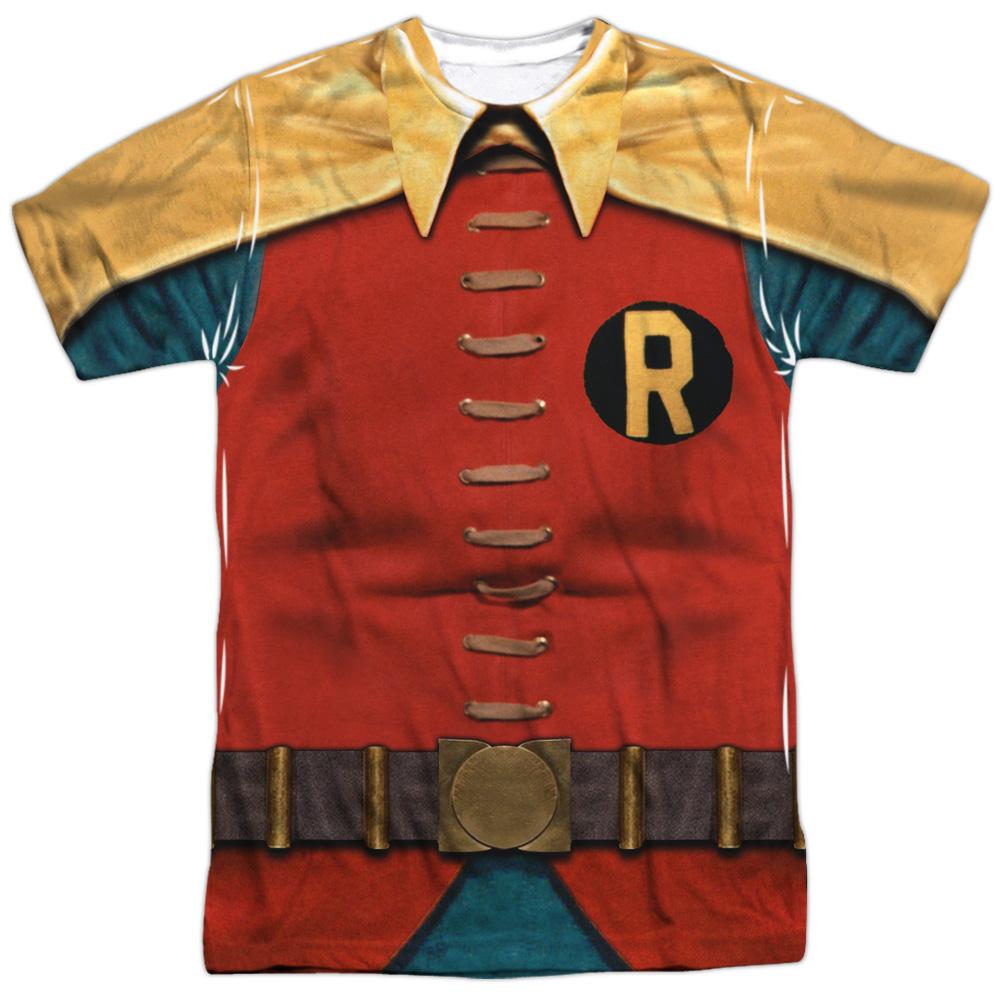 Batman Classic TV Series Retro Robin Costume Adult 2-Sided Print T-Shirt