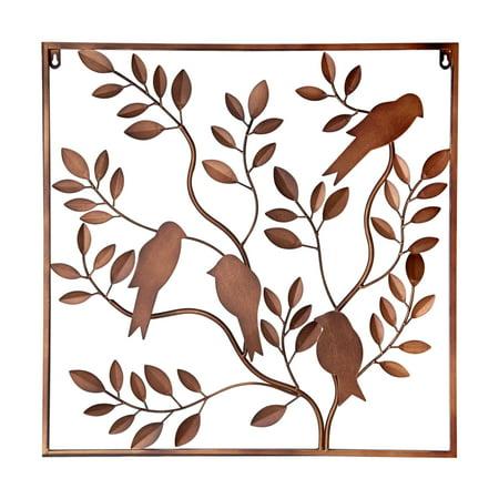 Elements 24 Inch Metal Bronze Birds In Tree Wall Decor - Walmart.com