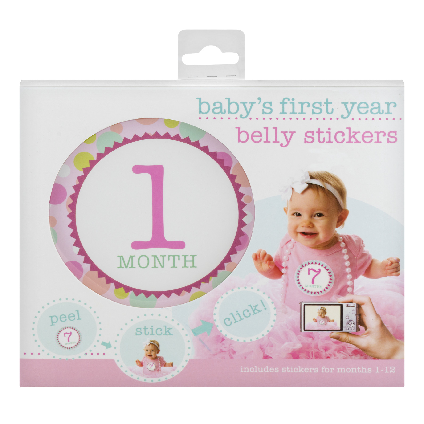 Stepping Stones Baby's First Year Belly Stickers - 12 CT12.0 CT