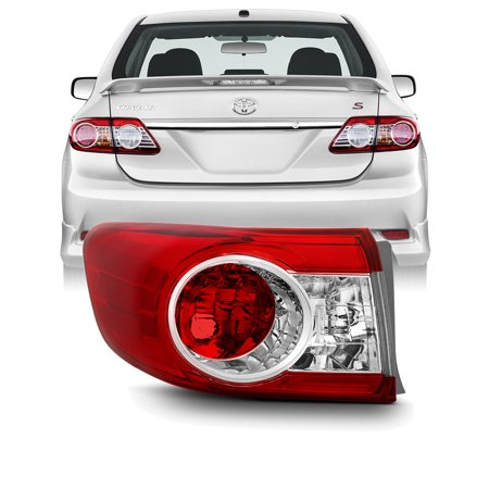 [Original Style] Fits 2011-2013 Toyota Corolla Driver Left Side Outer Tail Light 05 Toyota Corolla Tail Lights