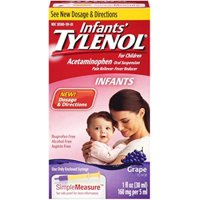 TYLENOL Infants' Oral Suspension Grape Flavor 1 oz (Pack of 2)