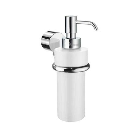 Smedbo  Art White Porcelain Soap Pump with Polished Chrome Bracket (Polished Chrome White Porcelain)