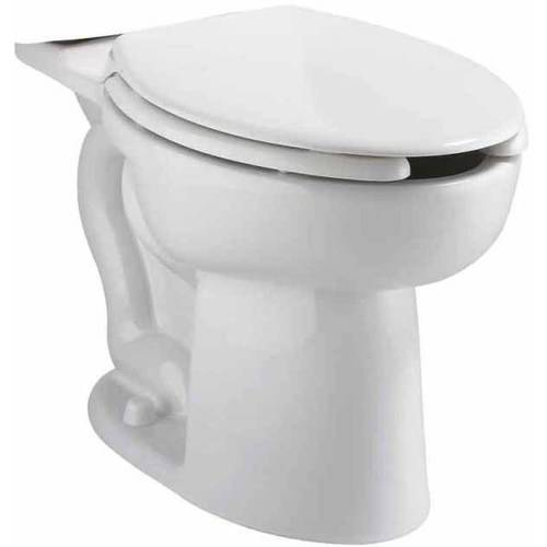 American Standard 3484.001.020 Cadet Right-Height Elongated Bowl with Slotted Rim for Bedpan holding, White