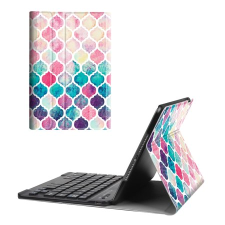 Fintie iPad mini 4 Case - Shell Lightweight Cover with Detachable Wireless Bluetooth Keyboard, Moroccan (Ipad Case Detachable Bluetooth)
