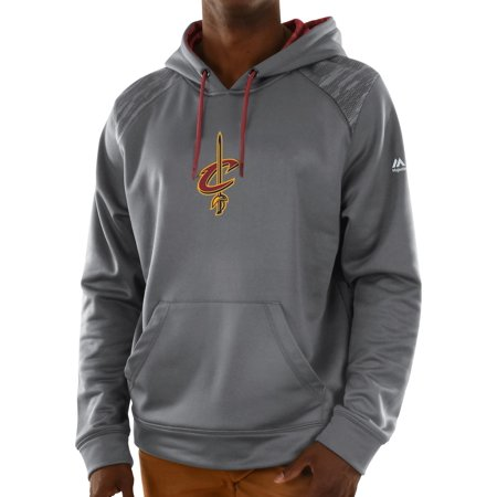 Cleveland Cavaliers Majestic Nba Armor 3 Mens Pullover Hooded Sweatshirt   Gray