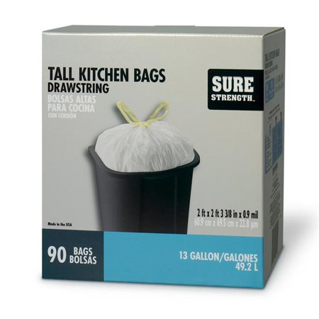 Sure Strength 6394316 13 gal Tall Kitchen Bags Drawstring   - image 1 of 1