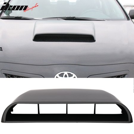 Universal Fitment ABS Air Flow Hood Vent Scoop Bonnet Cover V3 Style 10x12.5Inch